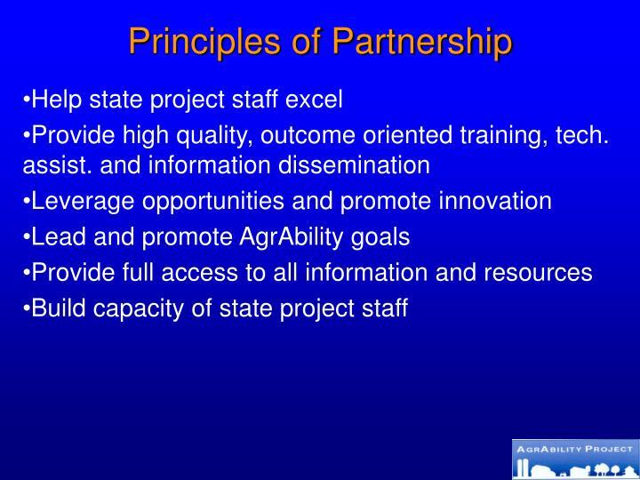 Principles of Partnership