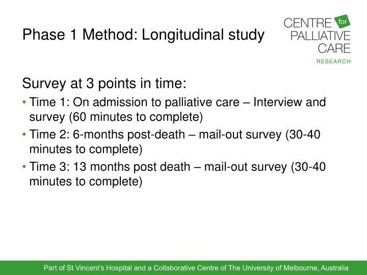 Phase 1 Method: Longitudinal study