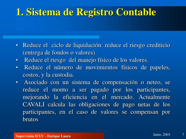 1. Sistema de Registro Contable