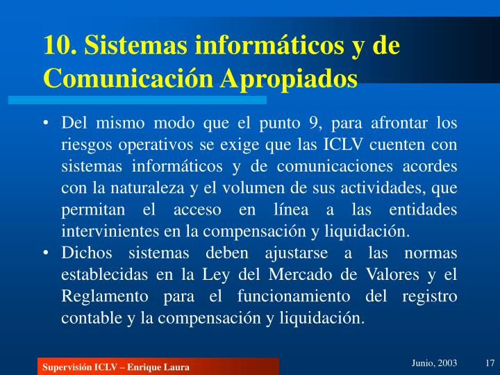 10. Sistemas informáticos y de Comunicación Apropiados