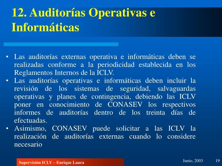 12. Auditorías Operativas e Informáticas