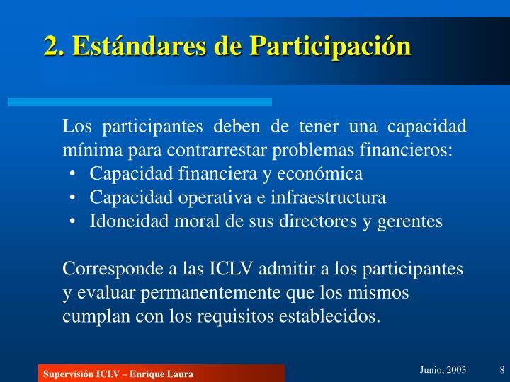 2. Estándares de Participación