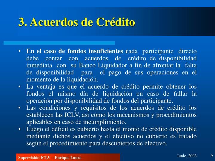 3. Acuerdos de Crédito