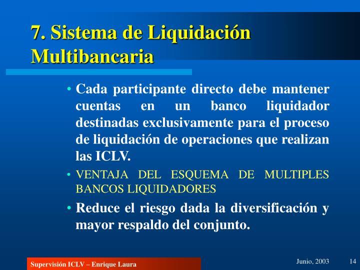 7. Sistema de Liquidación Multibancaria