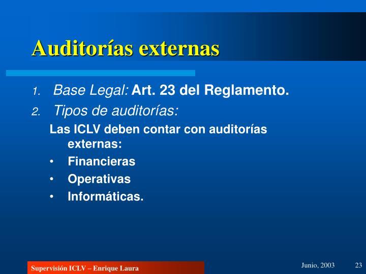 Auditorías externas