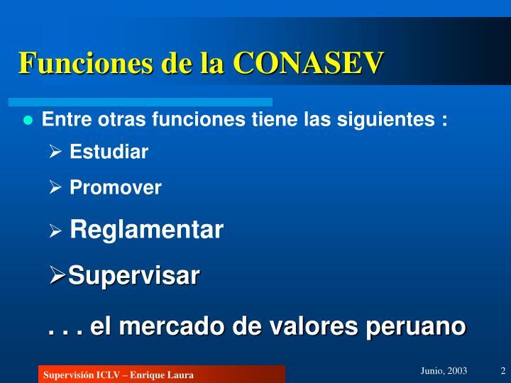 Funciones de la CONASEV