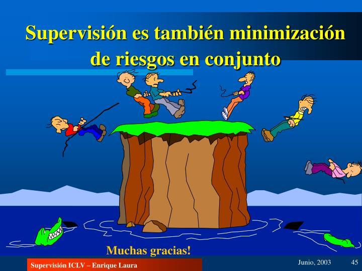 Supervisión es también minimización de riesgos en conjunto