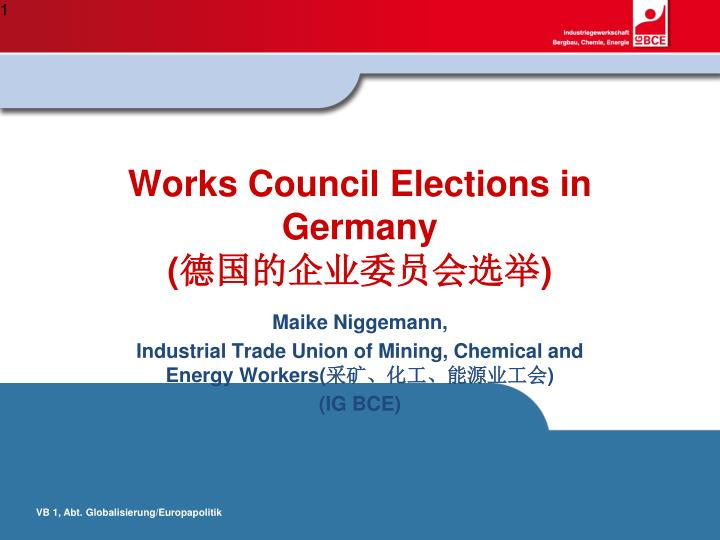Works council elections in germany