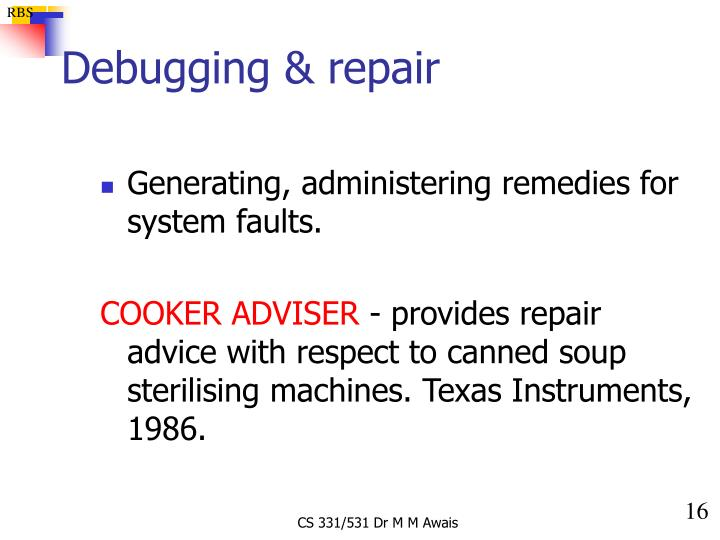 Debugging & repair