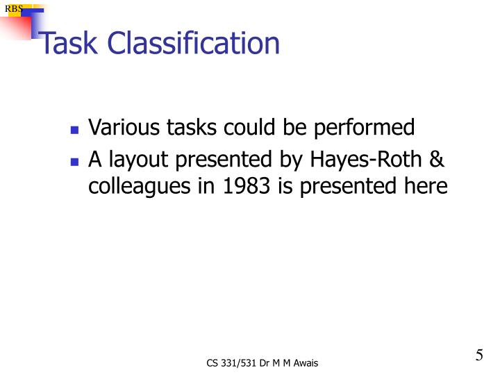 Task Classification