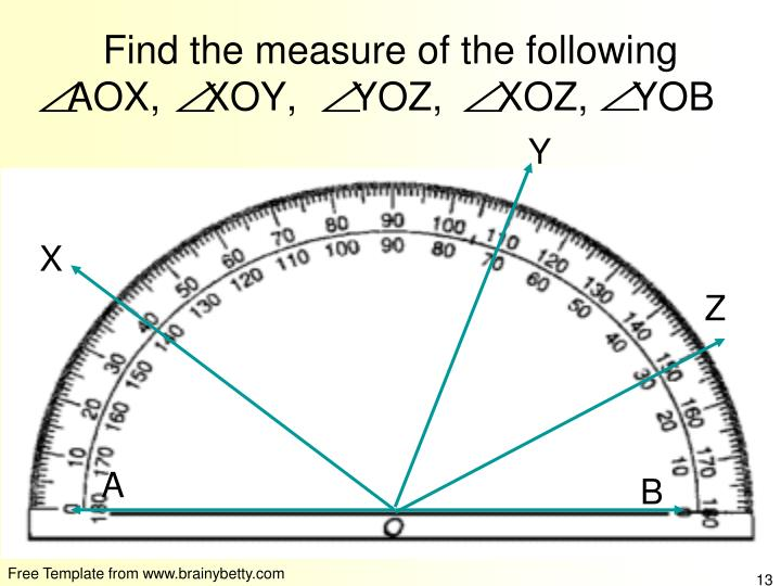 Find the measure of the following