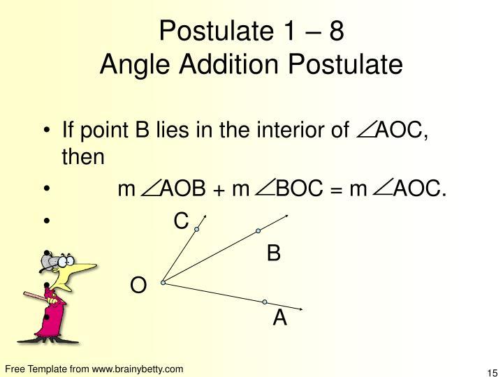Postulate 1 – 8