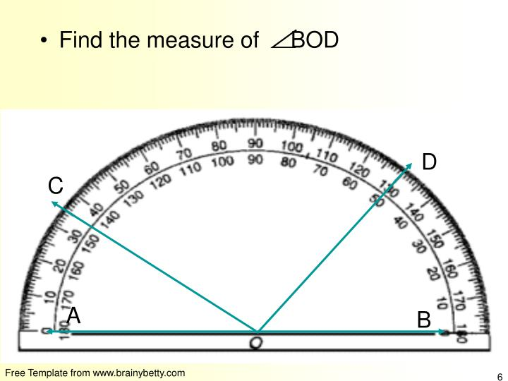 Find the measure of     BOD