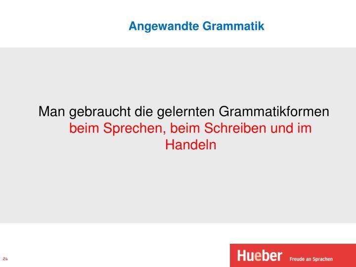 Angewandte Grammatik