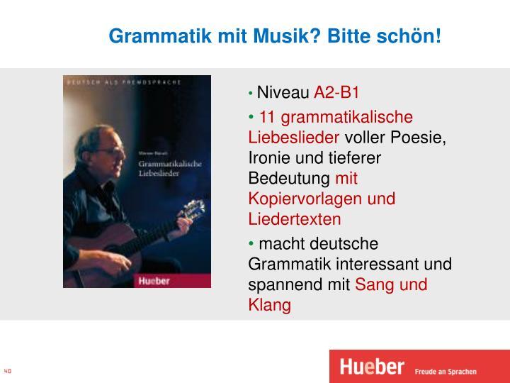 Grammatik mit Musik? Bitte schön!