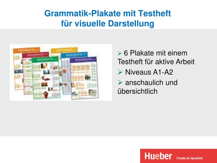 Grammatik-Plakate mit Testheft