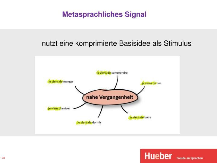 Metasprachliches Signal