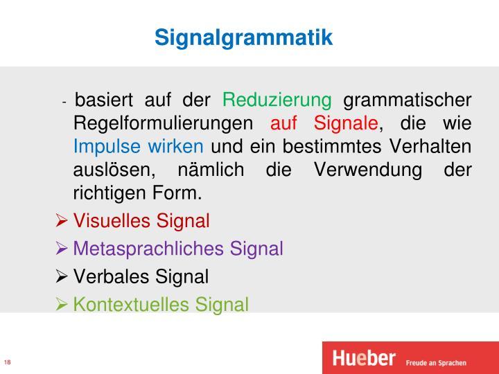 Signalgrammatik