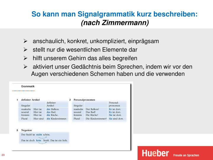 So kann man Signalgrammatik kurz beschreiben: