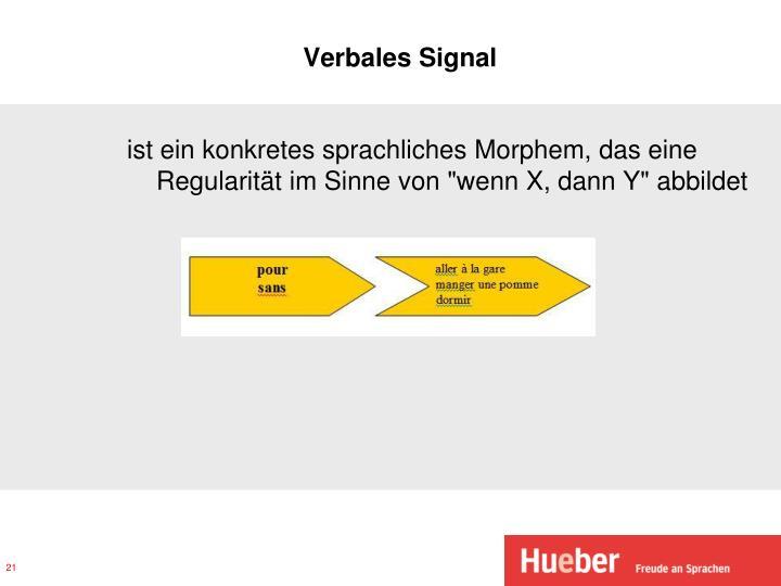 Verbales Signal