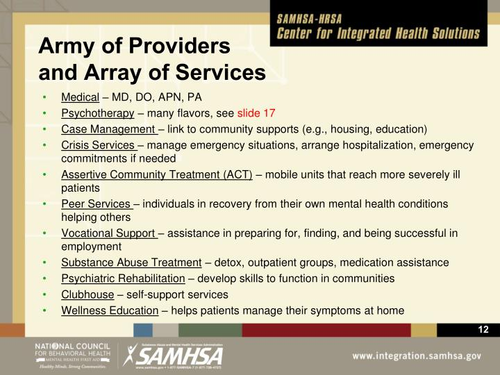 Army of Providers