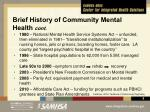 brief history of community mental health cont