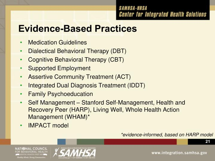 Evidence-Based Practices