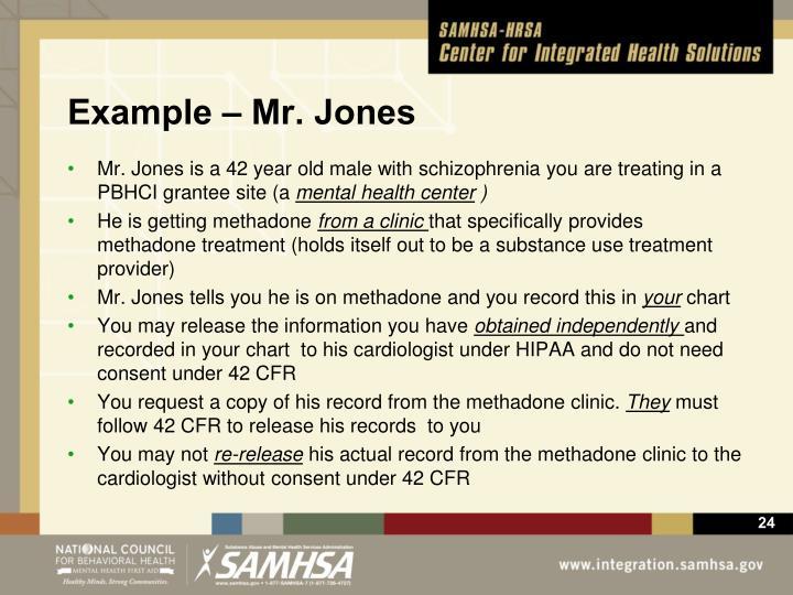 Example – Mr. Jones