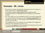 example mr jones