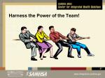 harness the power of the team