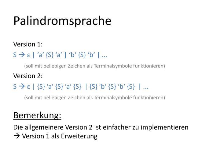 Palindromsprache