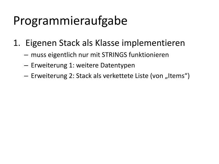 Programmieraufgabe