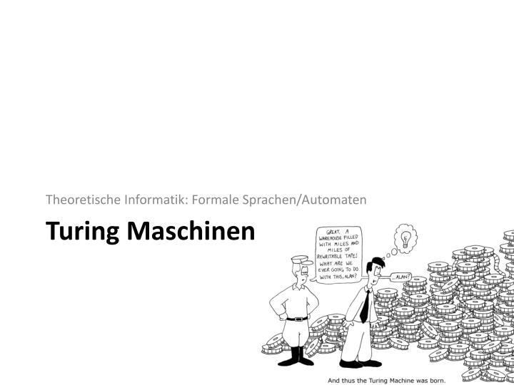 Theoretische Informatik: Formale Sprachen/