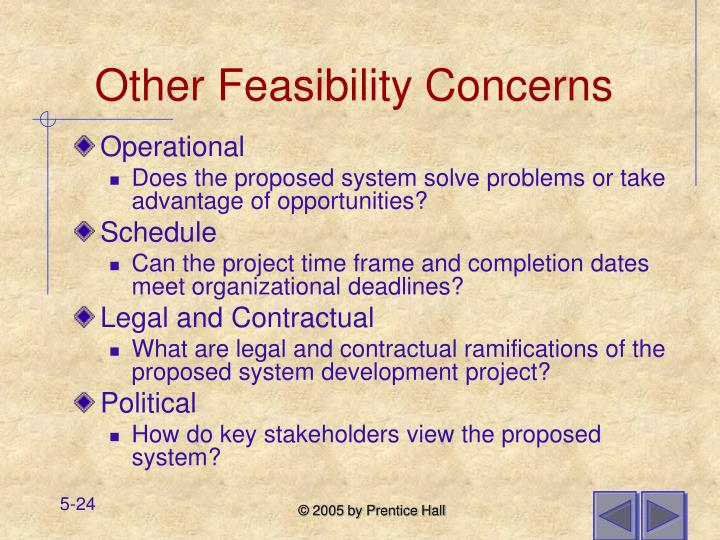 Other Feasibility Concerns