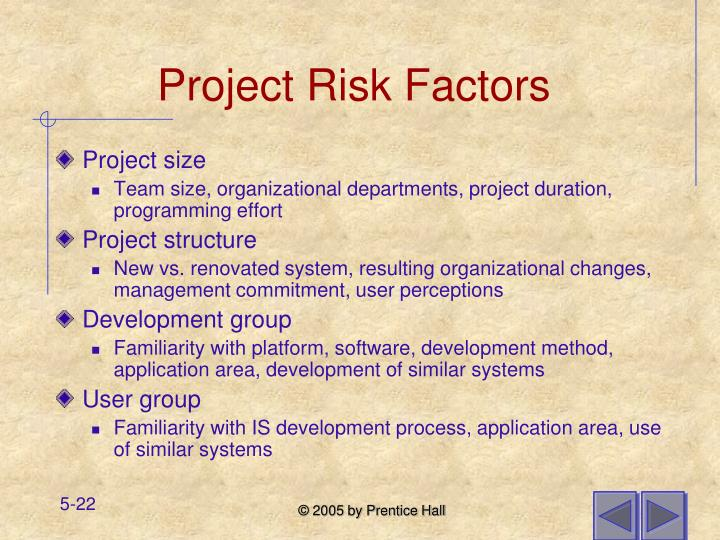 Project Risk Factors