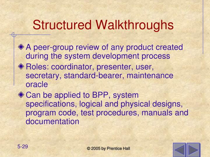 Structured Walkthroughs