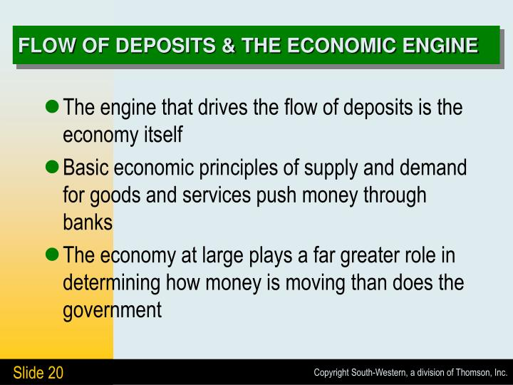 FLOW OF DEPOSITS & THE ECONOMIC ENGINE