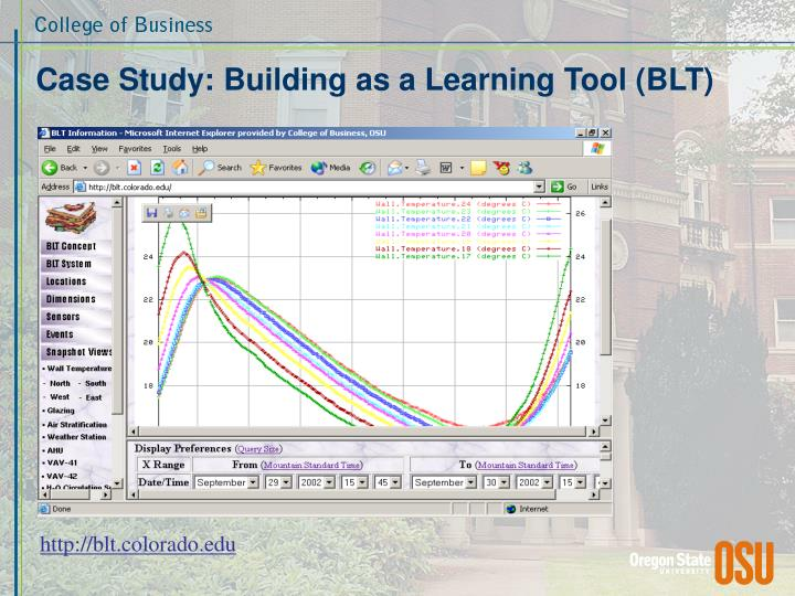 Case Study: Building as a Learning Tool (BLT)