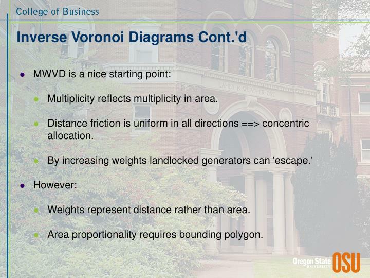 Inverse Voronoi Diagrams Cont.'d
