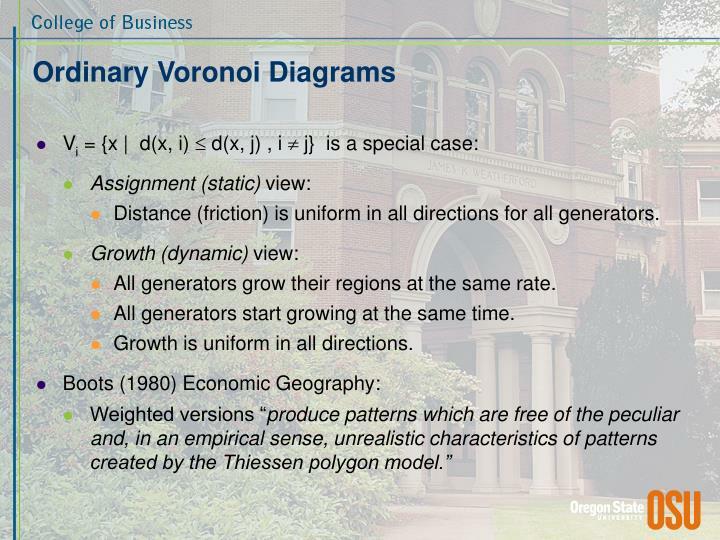 Ordinary Voronoi Diagrams