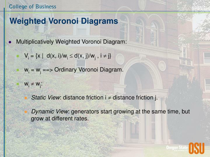 Weighted Voronoi Diagrams