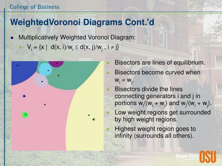WeightedVoronoi Diagrams Cont.'d