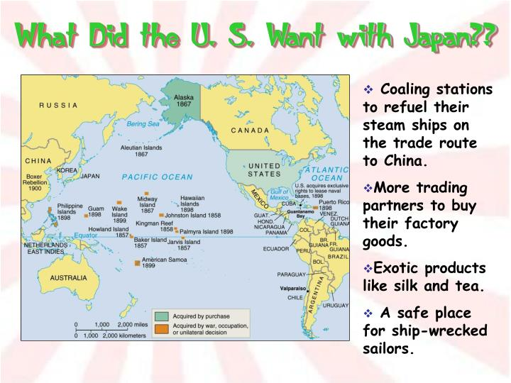 What Did the U. S. Want with Japan??