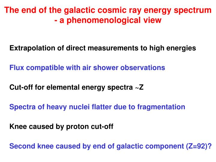 The end of the galactic cosmic ray energy spectrum