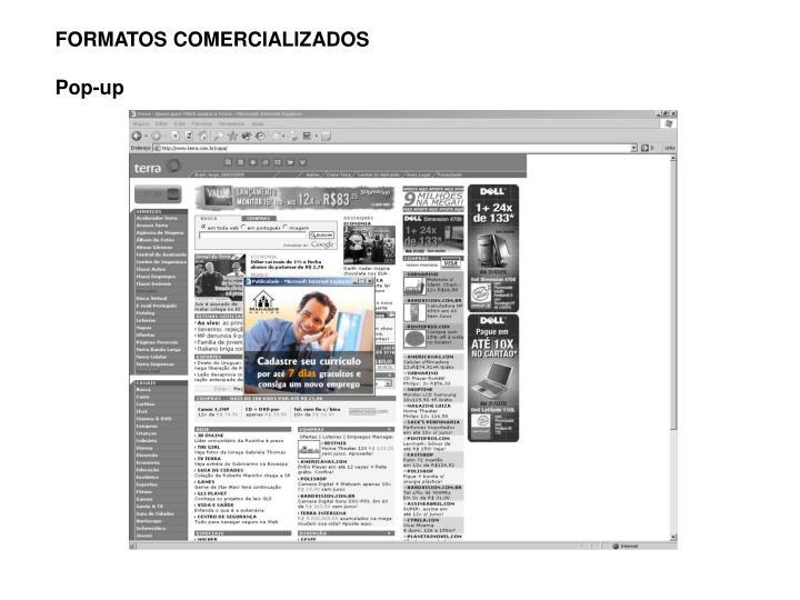 FORMATOS COMERCIALIZADOS