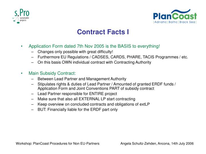 Contract Facts I