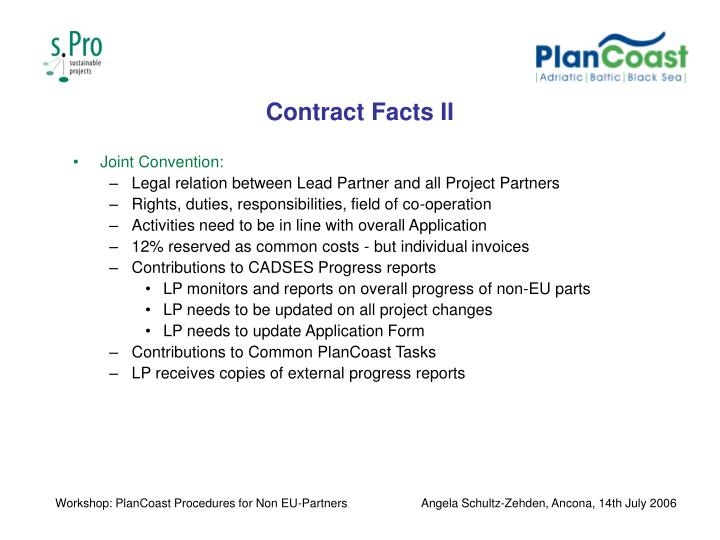 Contract Facts II