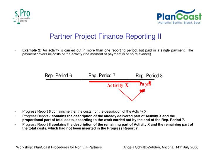 Partner Project Finance Reporting II