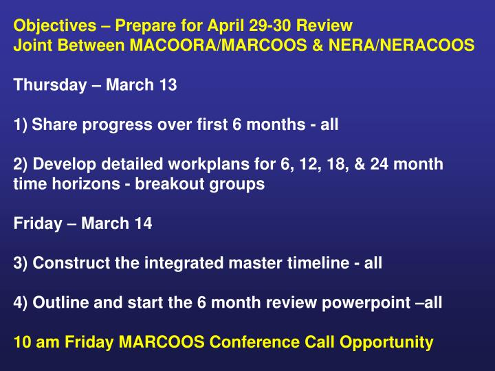 Objectives – Prepare for April 29-30 Review