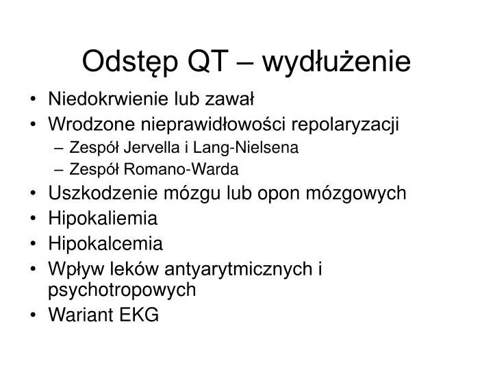 Odstęp QT – wydłużenie